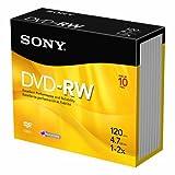 Sony 10DMW47R2 2X 4.7 GB DVD-RW Disc (10-Pack)