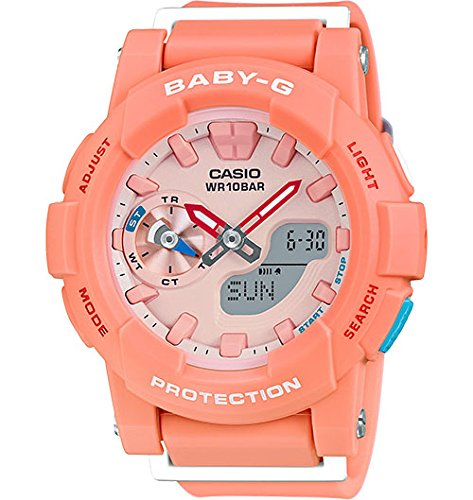 Casio Baby-G CC Series Coral & Orange Dial Resin Quartz Ladies Watch BGA185-4A