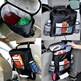 SaveStore 1pc Auto Car Back Seat Boot Organizer Trash Net Holder Travel Storage Bag Hanger for Auto Capacity Storage Pouch