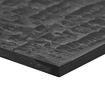 Acetal POM Sheet Polyoxymethylene Plate Sheet 200 x 200 x 6mm Black