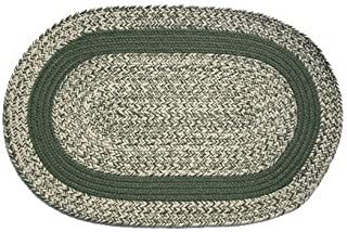 product image for Oval Braided Rug (5'x7'): Oatmeal Sage,- Sage Band