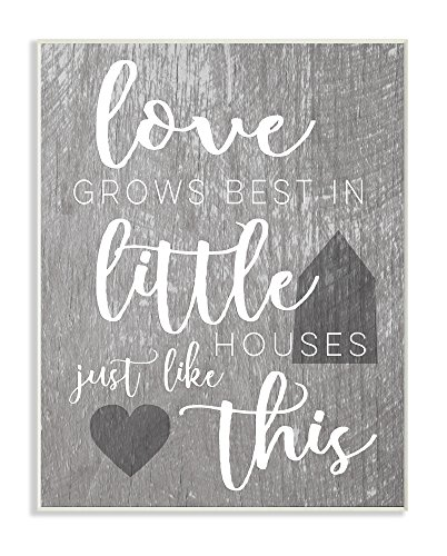 Stupell Industries Love Grows Best in Little Houses Wall Plaque, 10 x 15, Multi-Color