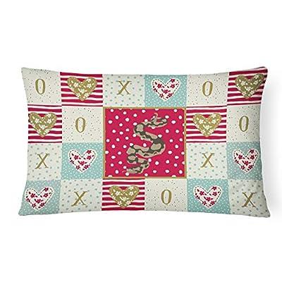 Caroline's Treasures CK5530PW1216 Python Canvas Fabric Decorative Pillow, 12H x16W, Multicolor : Garden & Outdoor