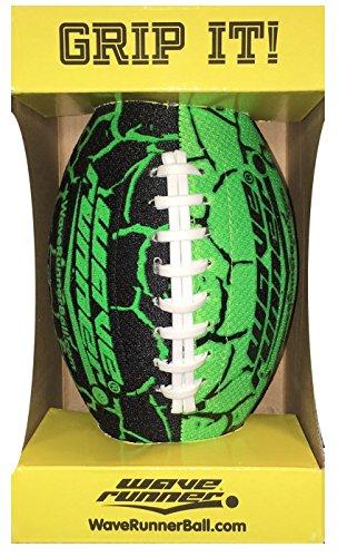 Wave Runner Grip It Football, Green ()