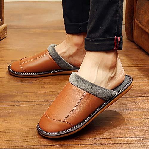 Td Coton couleur 41 42 Masculines Noir D'hiver Brown Taille De Pantoufles Zqwr6EZS