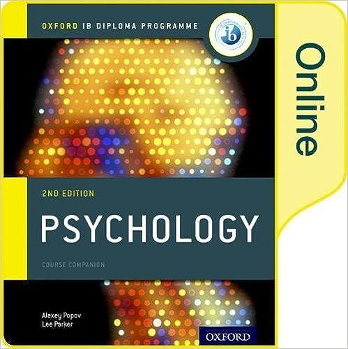 Amazon com: IB Psychology Online Course Book: Oxford IB