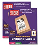 Sticiry White Self Adhesive Shipping Labels 5.5 x 8.5 Word Size (2 UP - 400 Labels ) Compatible with Ink Jet and Laser Printers