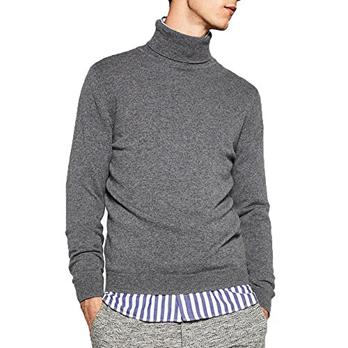 Merino Turtleneck Sweater Dress (Just No Logo Men's Basic Turtleneck Pullover Solid)