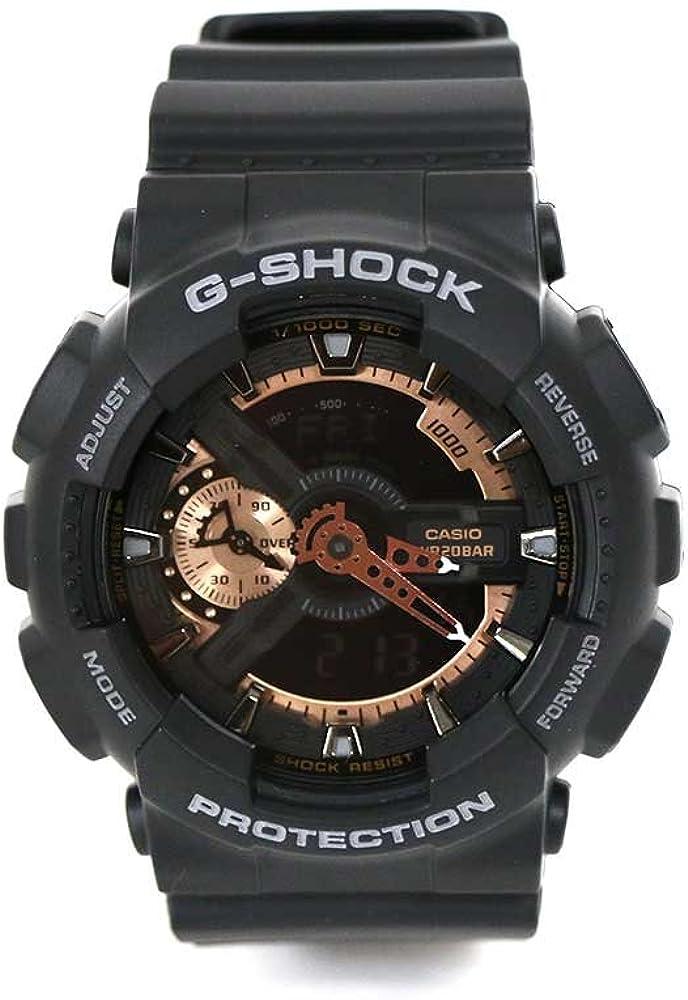 G-SHOCK BLACK BAND W BROZE BE GA110RG-1AC MENS Sports Watches BLACK