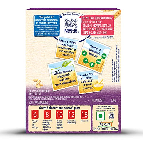 Nestle CERELAC Fortified Baby Cereal with Milk, 5 Grains and Fruits – From 18 to 24 Months, 300g BIB Pack