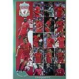 "Liverpool FC Season 2017 grid Football Soccer Photo Print Poster Size 24""x35"" S-0644"