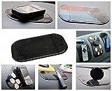 HQFÂ [Sticky Non-Slip Mat] Universal Car Auto Sticky Mat Anti-Slip Pad Key GPS Mobile Phone Holder for iPhone 6 Plus 6 5 4, Samsung S5 S4 S3, HTC One, MP3 Players, Sunglasses, Radar Sensor(Black)