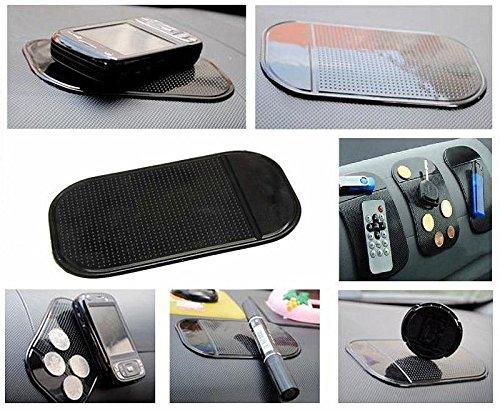 HQF® [Sticky Non-slip Mat] Universal Car Auto Sticky Mat Anti-Slip Pad Key GPS Mobile Phone Holder for iPhone 6 Plus 6 5 4, Samsung S5 S4 S3, HTC One, MP3 Players, Sunglasses, Radar Sensor(Black)