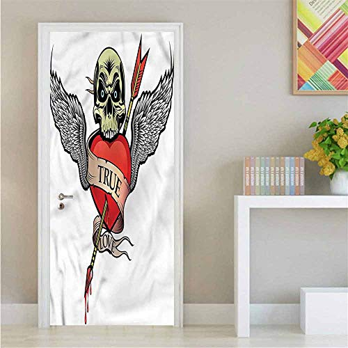 Superman Tattoo With Angel Wings - Tattoo,Self Adhesive Wall Sticker Angel Wings