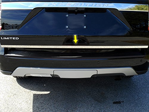 (QAA FITS Expedition 2018-2019 Ford (1 Piece Stainless Steel Rear Deck Trim, Trunk Lid Accent. 4-Door, SUV.) RD58383)