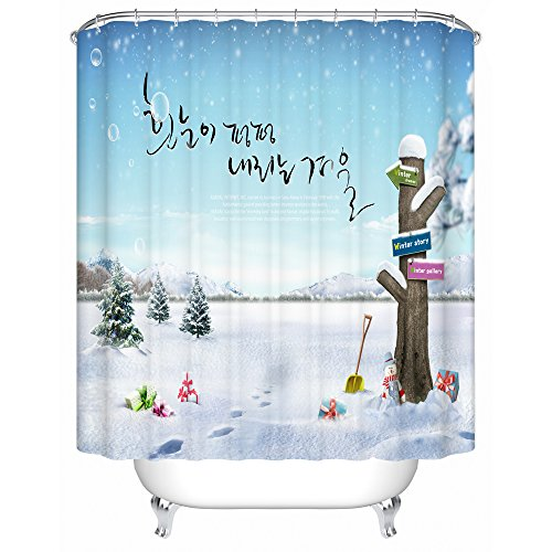 Creative case Christmas shower curtain,outdoor 100% Polyester Fabric ...