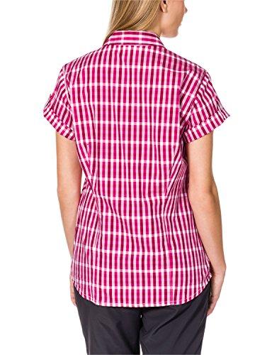 Checks Maglietta Raspberry Wolfskin River Jack Fiume Pink Da Donna Camicia Donna Bluse P1xZn8