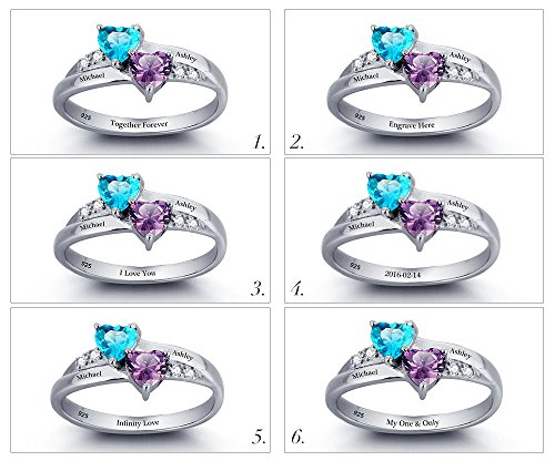 Promise-Ring-For-Her-Couples-2-Heart-Birthstones-2-Names-and-1-Engraving-Customized-and-Personalized