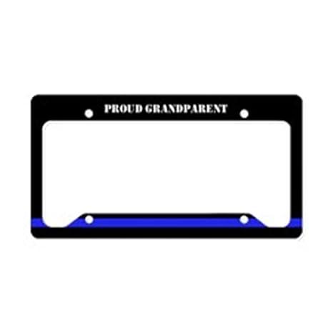 Amazon.com: CafePress - Police Thin Blue Line License Plate Holder ...