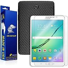 ArmorSuit MilitaryShield - Samsung Galaxy Tab S2 8.0-Inch Black Carbon Fiber Skin Back Protector Film + Anti-Bubble HD Clear Screen Protector For Galaxy Tab S2 8.0-Inch