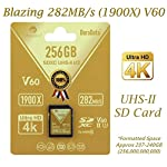 Amplim extreme high speed 32gb uhs-ii v90 sdxc sd card for 4k 8k uhd video camera camcorder 16 ultra high performance sd card: blazing speed 1900x (285mb/s) transfer rate. Twice the read speed of 1000x card. Newest sd association sd 5. 0 specs v60+ video rating provides 4k continuing shooting (other uhs-ii cards without v ratings are last generation sd 4. 0 cards). Top rated uhs-ii u3 class10 pro extreme turbo fast high capacity sd card for latest uhs-ii sdxc (sd xc) compatible cameras, accessories, usb-c sd card reader, microsoft surface book 2 and super fast 3d hdr 360 4k dslr and 3d professional photographer memory card: 32, 64 128 and 256 gig uhs-ii high capacity cards for dslr and mirrorless uhs-ii video cameras (sony, fuji, leica, nikon, olympus, panasonic, samsung). Sony alpha a9 a7 a7r mark iii sf card cyber-shot rx1r ii; fujifilm fuji x-t1 x-pro2 x-t2 gfx 50s x-h1 x-e3; leica sl type 601 m10; nikon d850 d500 fx; olympus om-d e-m5 ii om-d e-m10 ii iii pen-f om-d e-m1 mark ii; panasonic lumix dc-g9 gh5s gh5 gh4; samsung nx1; black magic ursa; support all uhs-ii devices backward compatible with uhs-i cameras (note: speed of uhs-ii card will be limited by the uhs-i sd slot): sony cyber-shot dsc w800 w830 dsch300 alpha a7r ii dsc-rx10 iv a6500 a9 a6300 a99 ii; canon powershot sx720 sx730 sx530 hs elph 180 190 is g7 x 5d mark iv iii ii eos 80d 5ds r rebel t7i t6 t5 kiss x70 x9 x9i 1300d 1200d m100 sl2 200d m56d m10 m677d 9000d 800d; nikon coolpix l32 l340 b500 d3400 d5300 d3300 d750 d7200 d7500 d5600