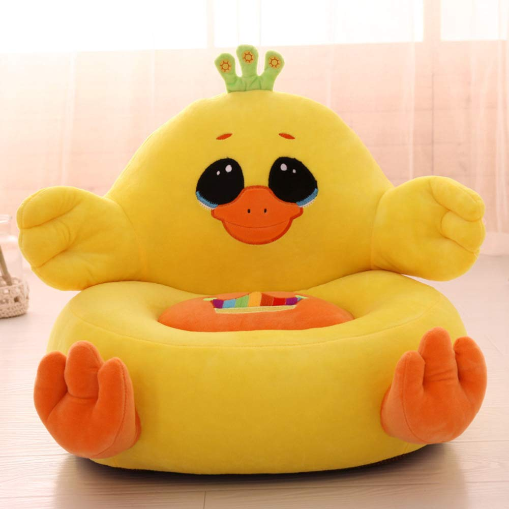 V&K Kid Plush Sofa,Cute Cartoon Lazy Child Sofa Bed Animal Toddlers Armchair for Living Gaming Room -Yellow 2020in
