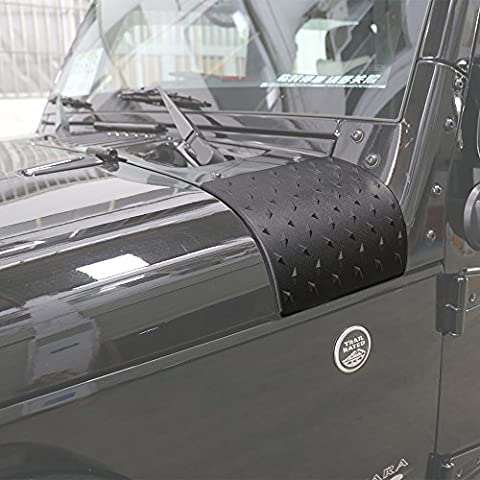 Danti Black Cowl Body Armor Outer Cowling Cover for Jeep Wrangler JK JKU Unlimited Rubicon Sahara X Off Road Sport Exterior Accessories Parts 2007 2008 2009 2010 2011 2012 2013 2014 2015 2016 (2013 Jeep Parts)