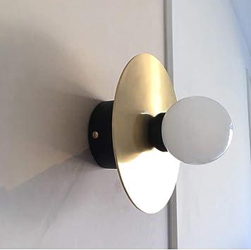 Mkjbd Linterna de Pared Lámpara de Jardín Lámpara de Pared Lámpara de Pared Lámparas de Pared Nordic Loft Simples Lámparas Creativas Modernas Lámparas de Salón Lámparas de Pasillo Lámpara de Pared Re: