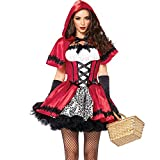 SVANCE Halloween Costumes for Womens - Adult Halloween Little Red Riding Hood