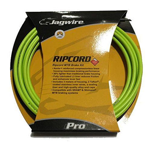 Jagwire Ripcord Brake Cable - Jagwire Ripcord DIY Brake Kit, Lime (Team Merida) Green