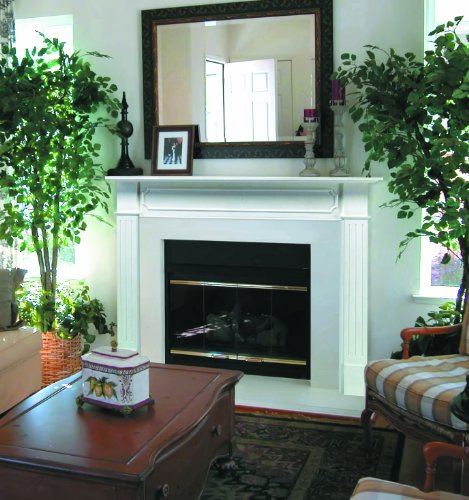 Pearl Mantels 520-48 Berkley Paint Grade Fireplace Mantel, Interior Opening 48-inch Wide...