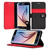 Galaxy S6 Case, ACEABOVE [Kickstand Feature] Samsung Galaxy S6 Wallet Case [Ultra Slim][Black] Premium PU Leather Flip Cover - Verizon, AT&T, Sprint, T-Mobile, International, and Unlocked - Flip Case for Samsung Galaxy SVI SM-G925F Early 2015 Model