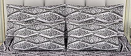 Linenwalas Premium Italian Damask Design Yarn Dyed Leaf Print Pillow Cover (set of 2) -
