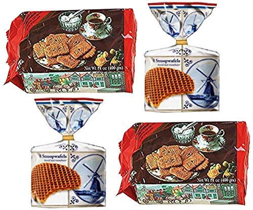 World Food Mission Dutch Classic Snacks Bundle - Ruiter Banket Speculaas Windmill Spiced Cookies and Casteleijn Stroopwafels