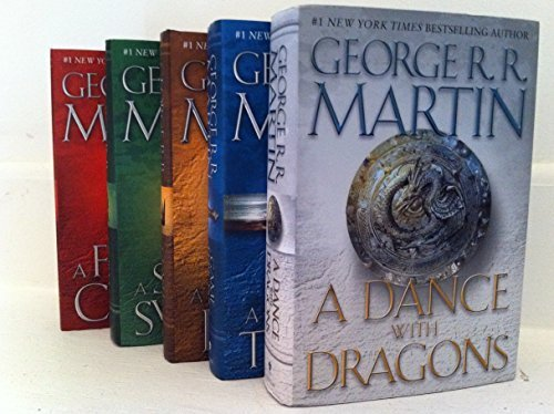 Game of Thrones Song of Ice and Fire 5 Book SET by Random House