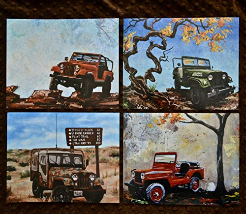 Set of 4 classic Jeeps, 8