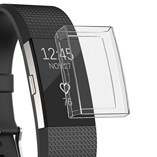 Screen Protector for Fitbit Charge 2, Ultra-Thin Soft Full Cover Case for Fitbit Charge 2 (Crystal Clear)