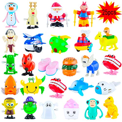 - Wind up Toys,25 Pack Assorted Toy for Kids Small Flip Classroom Children's Party Christmas gift Goodie Bag Child and Birthdays toys