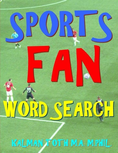 Sports Fan Word Search: 133 Extra Large Print Entertaining Themed Puzzles ()