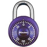 Master Lock Padlock, Standard Dial Combination Lock, 1-7/8 in. Wide, Purple, 1526D