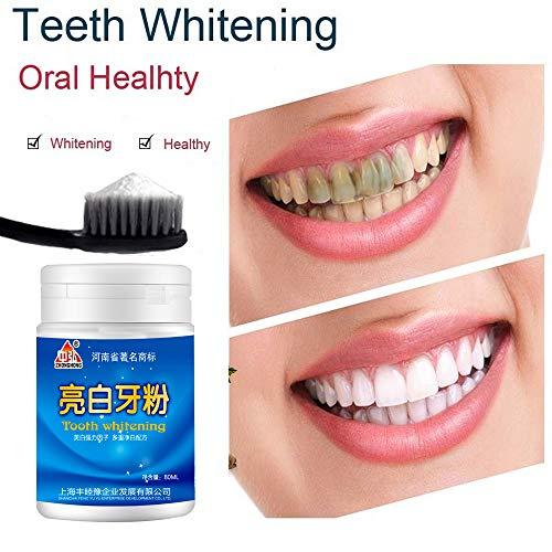 Teeth Whitening Charcoal Powder, MatureGirl Magic Natural Teeth Whitening Powder Pearl Tooth Powder Teeth Dental Hygien (White)