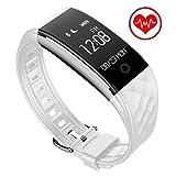 Fitness Tracker Next-shine Heart Rate Monitor Health Activity Tracker for Sport, Running, Walking, Sleeping, Swimming, Waterproof Pedometer Wristband White