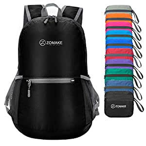 bb4c2559a8e7 Amazon.com  ZOMAKE Ultra Lightweight Packable Backpack Water ...