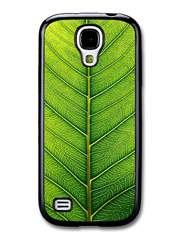 Green Leaf Close Up Cool Style Design coque pour Samsung Galaxy S4 mini