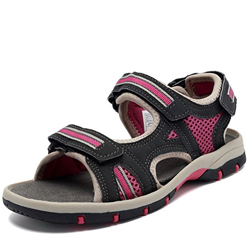 FANTINY Girl's Sports Sandals Open Toe Athletic Beach Shoes (Little Kid/Big Kid) SC1800 Grey 34