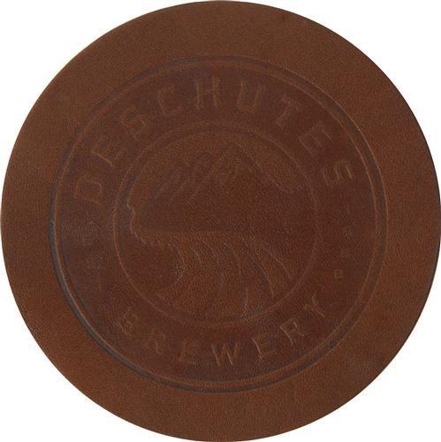 Deschutes Brewery Leather Coaster