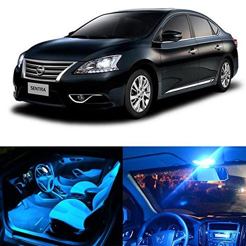 2014 Nissan Sentra Interior: Cciyu 8 Pack Ice Blue LED Bulb LED Interior Lights