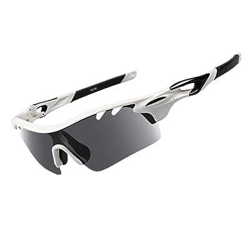 29498c879930 IFLYING Polarized Sports Sunglasses 3 Color Interchangeable Lenses for Men  Women Cycling Baseball Running Glasses Polarized