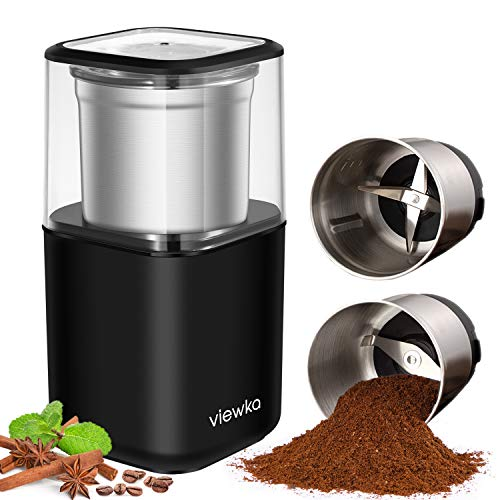 VIEWKA Electric Dried Spice and Coffee Grinder, Grinder and chopper,detachable cup, OK for clean it with water, Blade…