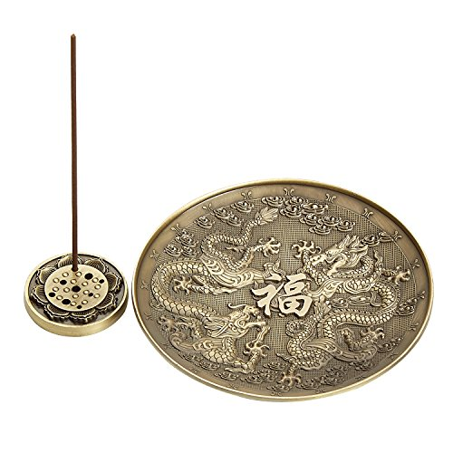 (UOON Incense Holder, Backflow Incense Burner, Dragon Stick Incense Burner Holder with Ash Catcher (01))